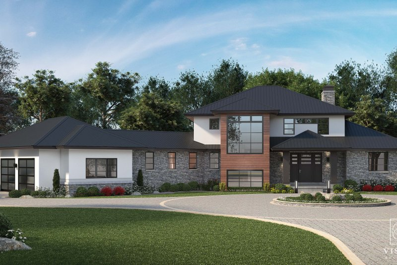 Contemporary Style House Plan - 4 Beds 3.5 Baths 5683 Sq/Ft Plan #928-363