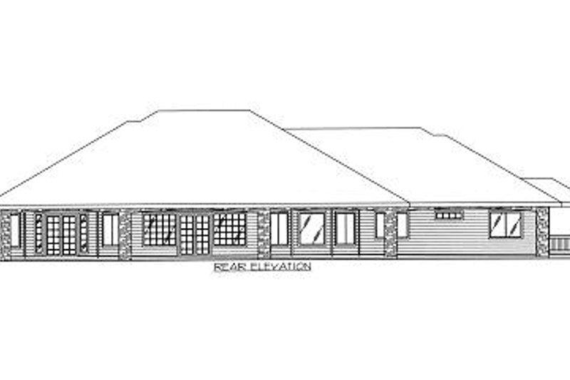 Traditional Exterior - Rear Elevation Plan #117-510 - Houseplans.com