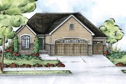 Traditional Style House Plan - 2 Beds 2 Baths 1636 Sq/Ft Plan #20-2116 Exterior - Front Elevation