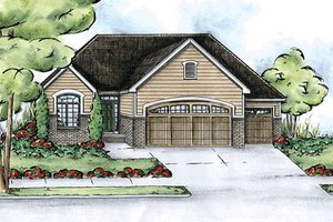 Traditional Exterior - Front Elevation Plan #20-2116