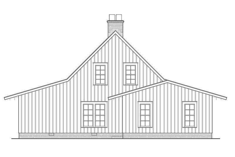 Cabin Exterior - Rear Elevation Plan #137-295 - Houseplans.com
