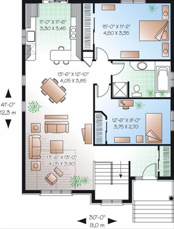 Architectural House Design - Traditional Floor Plan - Main Floor Plan #23-795