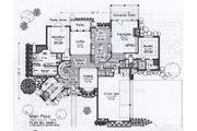 Colonial Style House Plan - 4 Beds 3.5 Baths 3923 Sq/Ft Plan #310-948 Floor Plan - Main Floor
