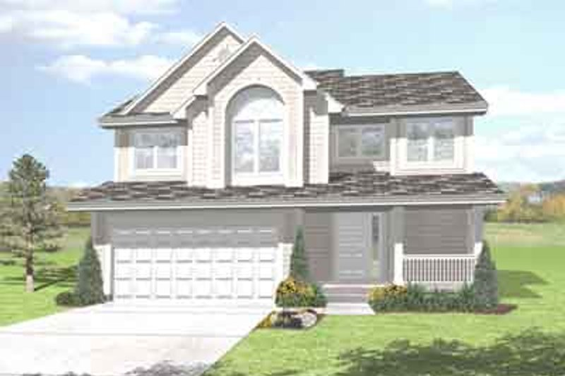 Traditional Style House Plan - 3 Beds 2.5 Baths 1800 Sq/Ft Plan #50-281 Exterior - Front Elevation