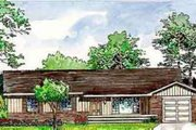 Ranch Style House Plan - 4 Beds 1 Baths 1209 Sq/Ft Plan #116-144 Exterior - Front Elevation