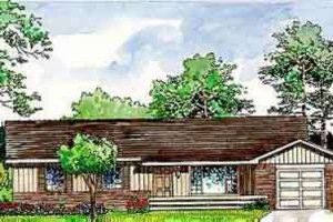 Ranch Exterior - Front Elevation Plan #116-144