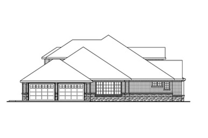 Traditional Exterior - Other Elevation Plan #124-829 - Houseplans.com