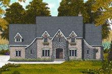 Dream House Plan - Tudor Exterior - Front Elevation Plan #413-811