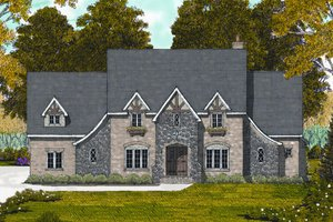 Tudor Exterior - Front Elevation Plan #413-811