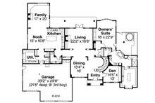 European Floor Plan - Main Floor Plan Plan #124-461