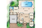 Mediterranean Style House Plan - 3 Beds 2.5 Baths 1786 Sq/Ft Plan #27-435 Floor Plan - Main Floor