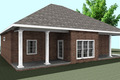 Southern Style House Plan - 3 Beds 2 Baths 1640 Sq/Ft Plan #44-168 Exterior - Other Elevation