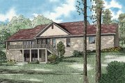 European Style House Plan - 5 Beds 3 Baths 2768 Sq/Ft Plan #17-2509 Exterior - Rear Elevation