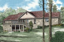House Plan Design - European Exterior - Rear Elevation Plan #17-2509