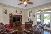 European Style House Plan - 3 Beds 3 Baths 1715 Sq/Ft Plan #929-957 Interior - Family Room