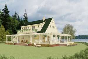 Country Exterior - Front Elevation Plan #917-12