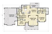Southern Style House Plan - 3 Beds 2.5 Baths 3079 Sq/Ft Plan #1070-12 Floor Plan - Main Floor