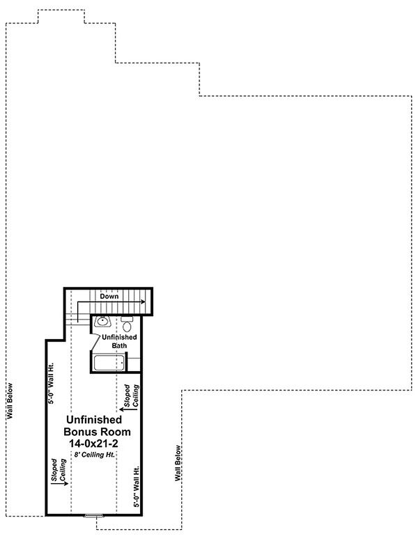 Country Floor Plan - Upper Floor Plan Plan #21-320