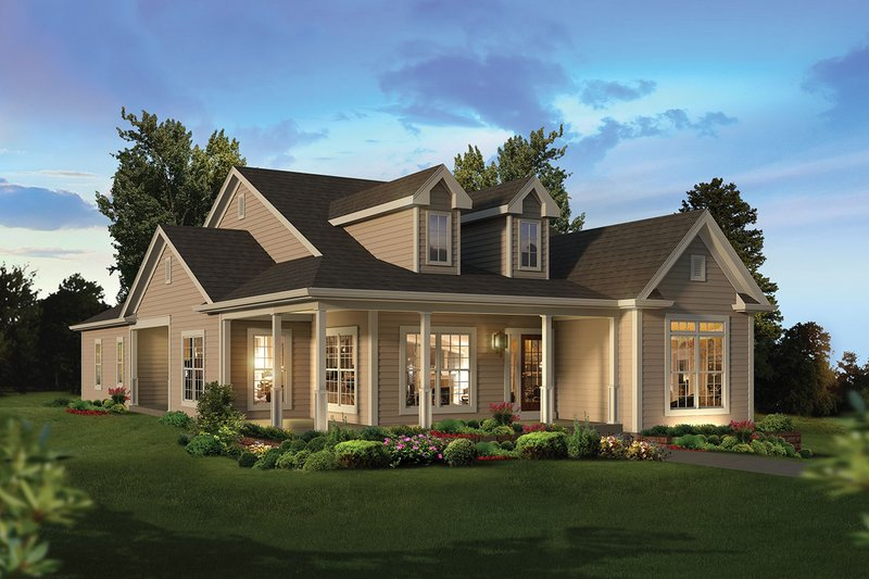 Ranch Exterior - Front Elevation Plan #57-659