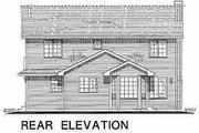 Traditional Style House Plan - 4 Beds 3 Baths 1955 Sq/Ft Plan #18-279 Exterior - Rear Elevation