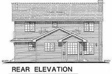 House Blueprint - Traditional Exterior - Rear Elevation Plan #18-279