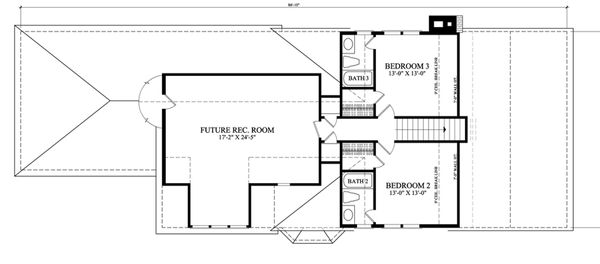 Southern Floor Plan - Upper Floor Plan Plan #137-261