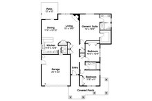Craftsman Floor Plan - Main Floor Plan Plan #124-1211