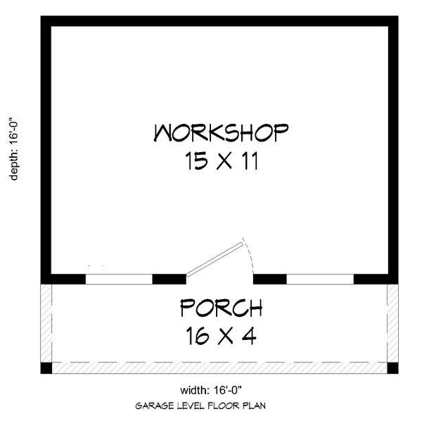 Country Floor Plan - Main Floor Plan Plan #932-303