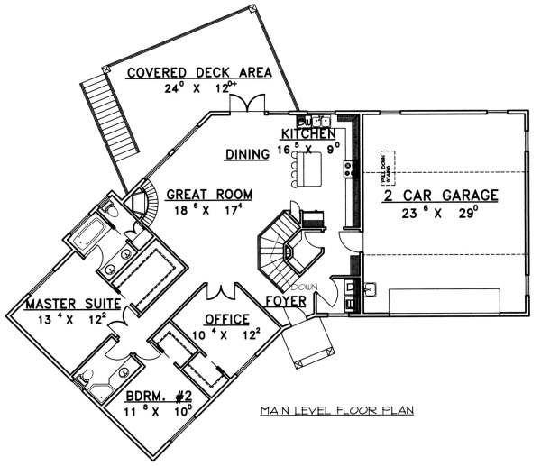 Modern Floor Plan - Main Floor Plan Plan #117-582