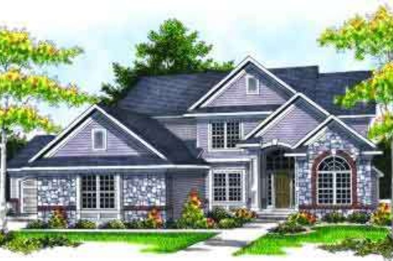 Traditional Style House Plan - 4 Beds 2.5 Baths 2672 Sq/Ft Plan #70-628 Exterior - Front Elevation