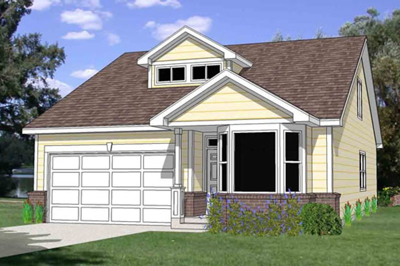 Farmhouse Style House Plan - 3 Beds 2.5 Baths 1689 Sq/Ft Plan #116-273 Exterior - Front Elevation