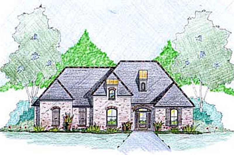 European Style House Plan - 3 Beds 2.5 Baths 2522 Sq/Ft Plan #36-492 Exterior - Front Elevation