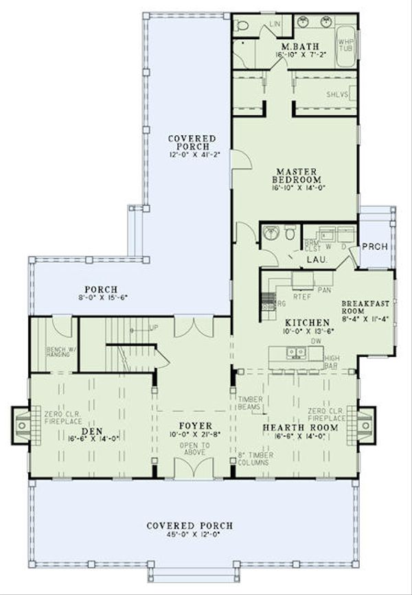 Farmhouse Floor Plan - Main Floor Plan #17-2441