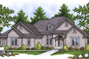 European Style House Plan - 2 Beds 1.5 Baths 2297 Sq/Ft Plan #70-590 Exterior - Front Elevation