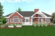 Southern Style House Plan - 3 Beds 2.5 Baths 1992 Sq/Ft Plan #56-564 Exterior - Rear Elevation