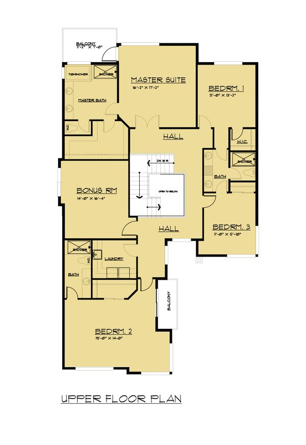House Plan Design - European Floor Plan - Upper Floor Plan #1066-65