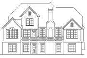 European Style House Plan - 4 Beds 3.5 Baths 2828 Sq/Ft Plan #927-20 Exterior - Rear Elevation