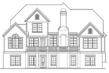 European Exterior - Rear Elevation Plan #927-20