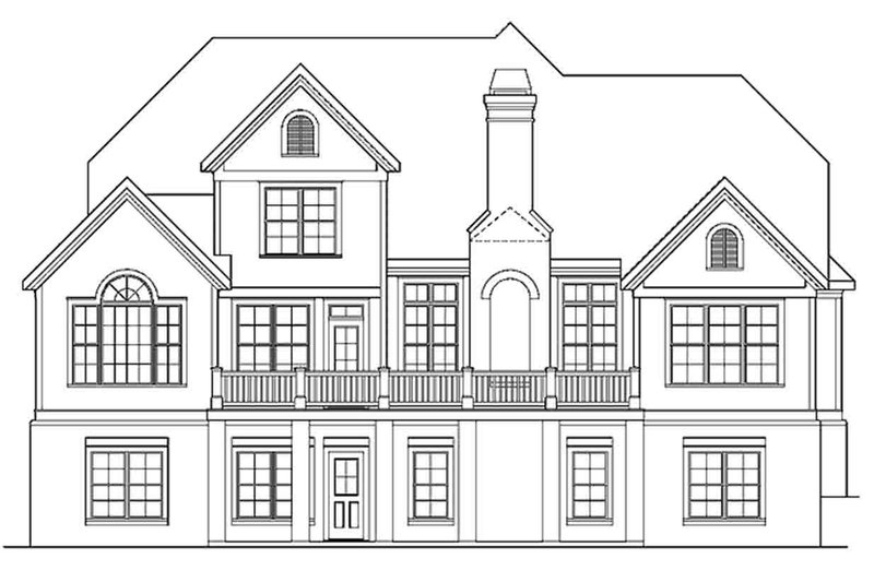 European Exterior - Rear Elevation Plan #927-20 - Houseplans.com