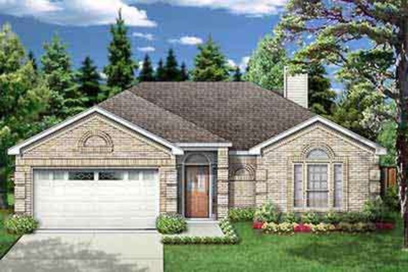 Traditional Exterior - Front Elevation Plan #84-191 - Houseplans.com