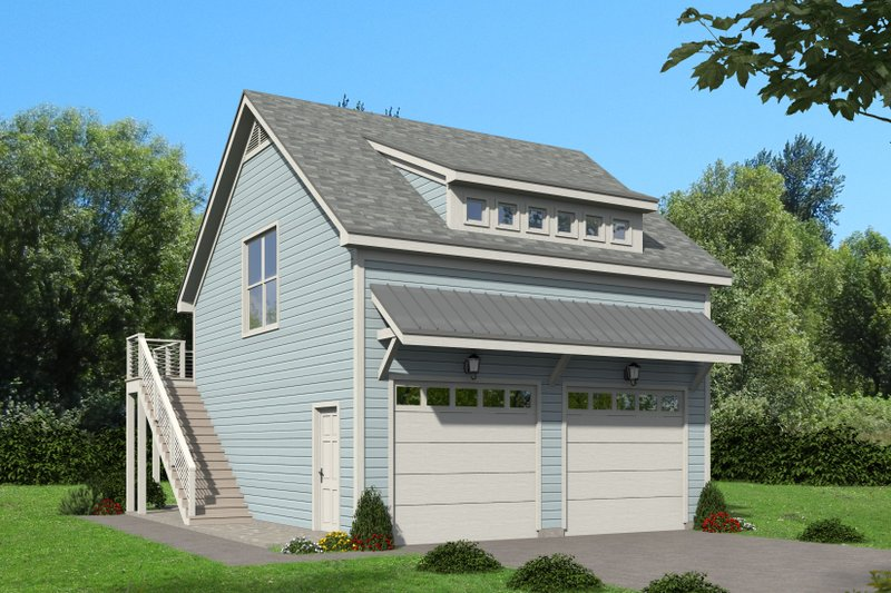 Cottage Exterior - Front Elevation Plan #932-241