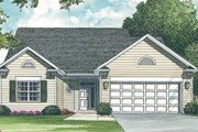 Traditional Style House Plan - 3 Beds 2 Baths 1204 Sq/Ft Plan #453-62