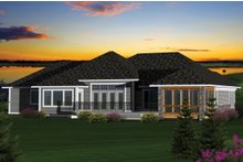 Country Exterior - Rear Elevation Plan #70-1051
