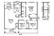 Craftsman Style House Plan - 3 Beds 1 Baths 1194 Sq/Ft Plan #84-582 Floor Plan - Main Floor Plan