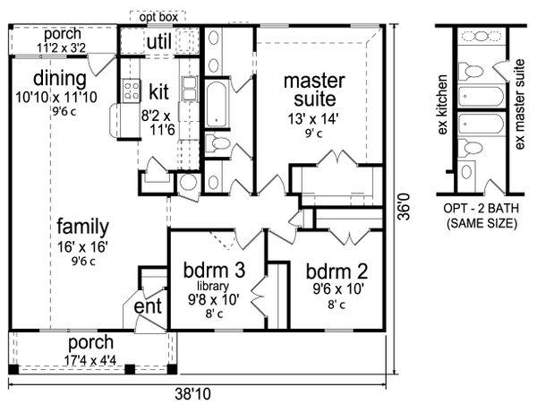 Craftsman Floor Plan - Main Floor Plan Plan #84-582