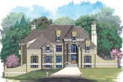 European Style House Plan - 5 Beds 6 Baths 7157 Sq/Ft Plan #119-231 Exterior - Front Elevation