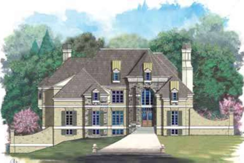 European Exterior - Front Elevation Plan #119-231