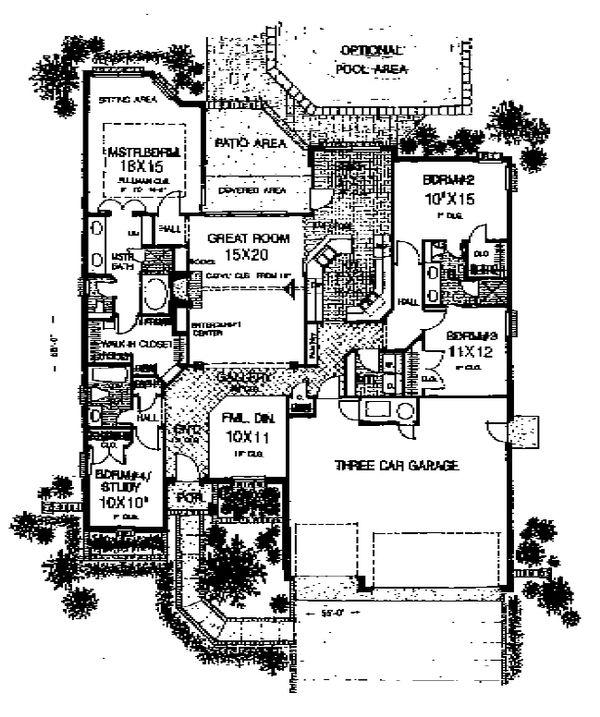 Traditional Floor Plan - Main Floor Plan #310-933