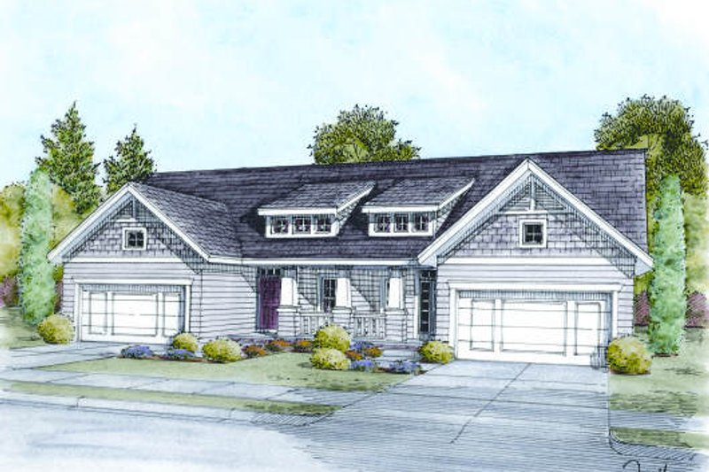 Dream House Plan - Bungalow Exterior - Front Elevation Plan #20-2136
