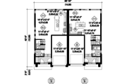 Contemporary Style House Plan - 5 Beds 2 Baths 3385 Sq/Ft Plan #25-4396 Floor Plan - Main Floor Plan